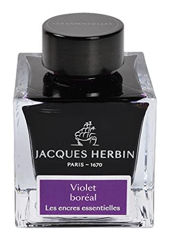 Jacques Herbin 13173JT - Botella de tinta para pluma y bolígrafos roller, 50 ml, color morado