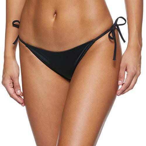 Calvin Klein Cheeky String Side Tie Bikini Braguita, Negro (Pvh Black Beh), 46 (Talla del...