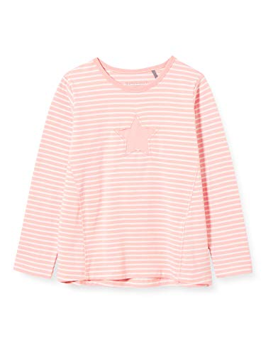bellybutton Baby-Mädchen Langarmshirt T-Shirt, Silver pink Rose, 92