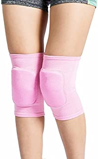 LZEEM Soft Kneepad for Dancer,Adult Biking Football Soccer Tennis Workout Climbing Exercise Work Yoga Pole Dance Volleyball Kids Roller Skating Knee Brace Sleeve with Sponge