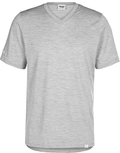 Bergans Bloom T-Shirt en Laine Homme, Grey Melange Modèle S 2020 T-Shirt Manches Courtes