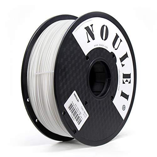 Noulei PLA Filamento para impresora 3D, 1.75 mm 1 kg, Blanco