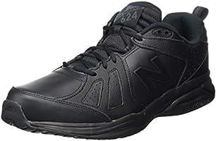 New Balance Men's 624 Cross Training Shoes, Black, 11.5 US (Wide)