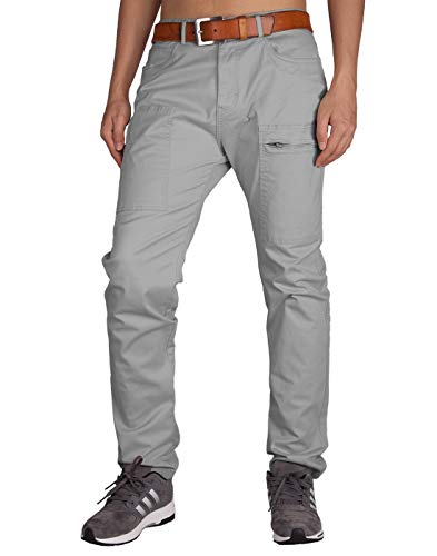 ITALY MORN Pantalones Chinos Cargo Grises Hombre Uniforme para Niño 38 Gris Claro