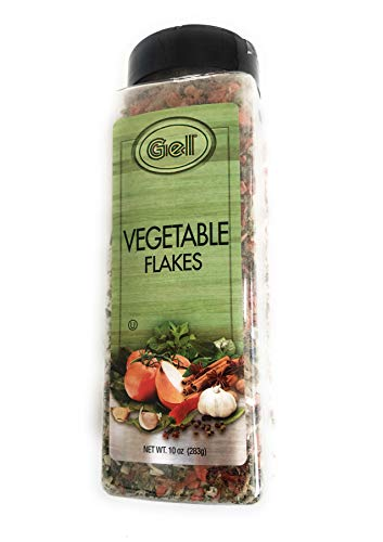 Vegetable Flakes - A Mix of Dried Onions, Carrots, Sweet Potatoes, Green and red Bell Peppers, Parsley