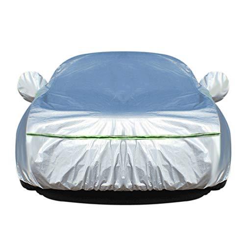 PKMMQ Autoabdeckung Kompatibel mit Cadillac ATS ATS-V SRX STS DTS ELR Alle wetterfesten Outdoor Universal atmungsaktiv sonnengeschützt UV geschützt (Color : Silver, Size : ELR)