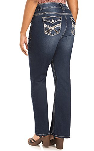WallFlower Juniors InstaStretch Luscious Curvy Bootcut Jeans in Chrystie Size:11