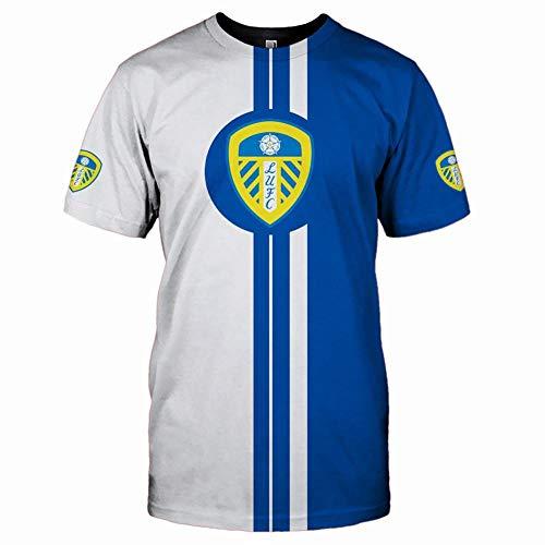 xiaosu T-Shirts Lang/Kurz Ärmel Zum Leeds-United 3D Drucken Unisex Tee Fans Männer Teenageralter Hemden Sport / A1 / XXL