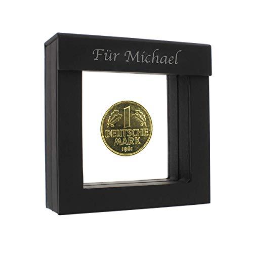 Historia 1 DM-Münze 1959 vergoldet - Jahrgangsmünze mit Ihrer persönlichen Gravur auf dem Rahmen