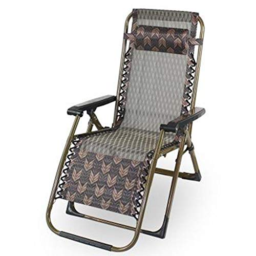 YYDD plegable silla de césped reclinable silla de gravedad silla de ocio silla reclinable lateral cómoda suave comodidad balcón playa Pesca camping style4