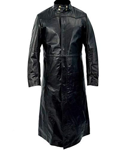 Gabardina Neo Matrix Keanu Reeves de piel sintética negra