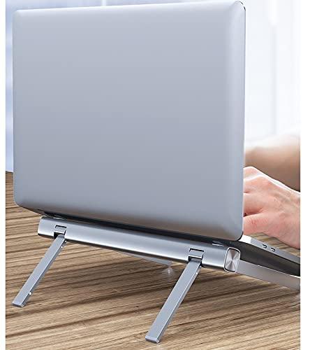 Brynnl Soporte para ordenador portátil, altura ajustable, portátil, elevador, aluminio, universal, ligero, plegable, soporte ventilado para computadora portátil, portátil, portátil, portátil, tableta