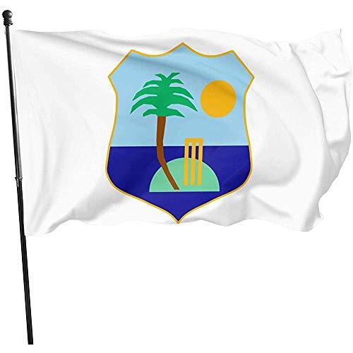 AmyNovelty Family Flag,West Indies Cricket Board Flag Vertikale Polyester Home Yard Flaggen Für Familienurlaub Dekoration 90x150cm