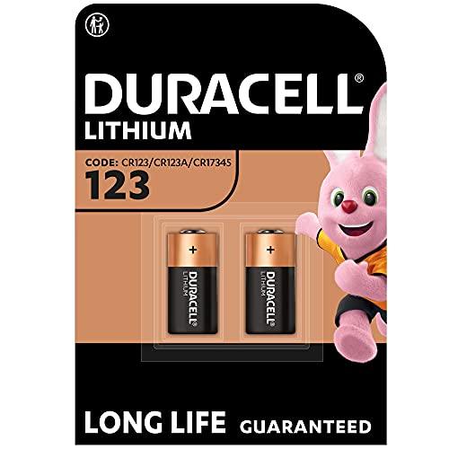 Duracell High Power Lithium 123 Batterie 3V, 2er-Packung (CR123 / CR123A / CR17345) entwickelt für die Verwendung in Sensoren, schlüssellosen Schlössern, Blitzgeräten und Taschenlampen