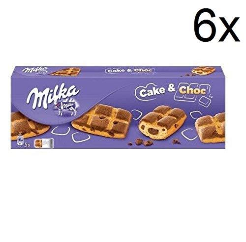 6x Milka CAKE & CHOC mit Sahne- und Schokoladennuggets 175g biscuits cookies