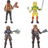 Fortnite Squad Mode Tomatotown Legends-Paquete de 4 Figuras de la Serie 6, Incluyendo Armas, Herramientas de Cosecha, Materiales de construcción, Soportes y Mucho más, Multicolor (Jazwares FNT0813)