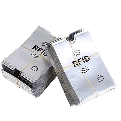 50Pcs IRF Porte-Cartes De Crédit Manches Passeport Protecteurs Carte Premium Credit Et Le Vol D'Identité Protection Manches Fits Blanc Purse