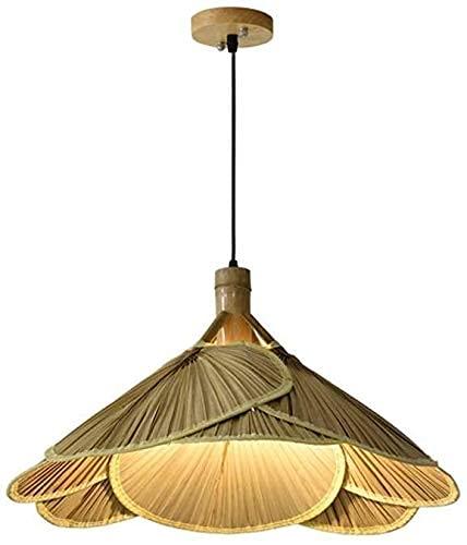 HUAXUE Luce del Ventilatore da soffitto, Lampada da soffitto in Rattan con Ventilatore e luci di bambù, Stile retrò (Colore: 1 pz) (Color : 1 PCS)