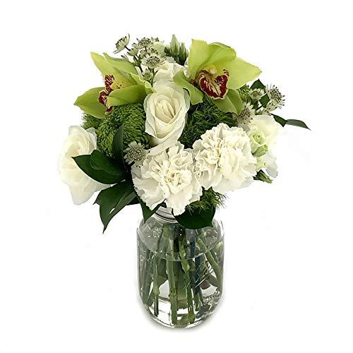Rachel Cho Floral Design - Honeydew - Fresh Cut Flower Bouquet - Fast Delivery - Fresh Flowers - Floral Arrangement - Flower Bouquet - Approx. 4 lbs. 15' x 9' - Without Vase