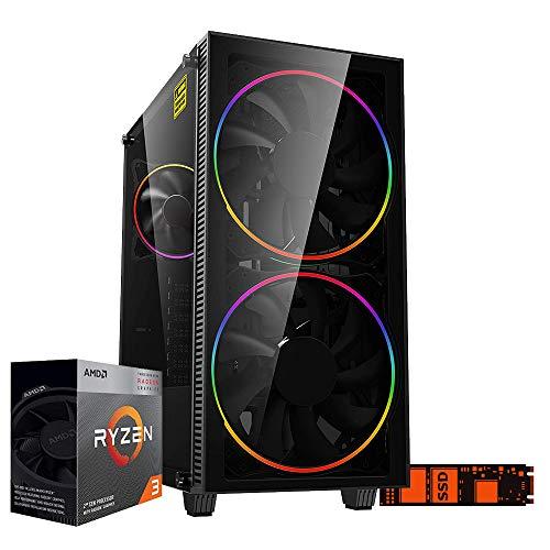 Pc gaming ryzen 3 3200G Cpu quadcore 4.00ghz,Ssd m.2 256gb,Ram 8gb Ddr4 3200 mhz,Radeon Vega 8,Wi Fi 300mbps, pc desktop Gaming assemblato