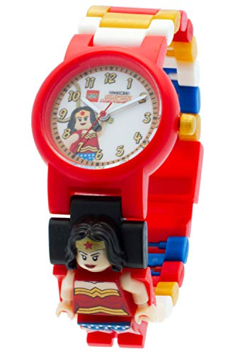 Reloj infantil modificable con figurita de Wonder Woman de LEGO DC Comics 8020271 Super Heroes
