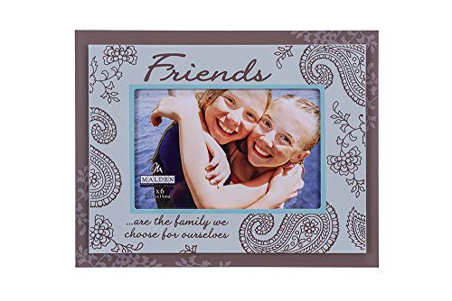 Malden International Designs Friends Double Layer Wood Picture Frame, 4x6, Brown