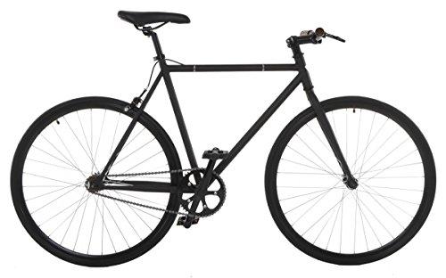 Vilano Fixed Gear Bike Fixie Single Speed Road Bike, Matte Black, 58cm/Large