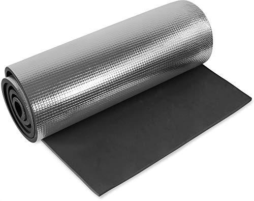 normani 1, 2, 3 oder 5 Ultraleichte Isomatten mit Aluminiumbeschichtung/Alu-Thermomatte Isomatte Farbe Schwarz