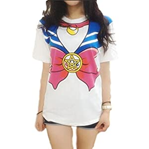 GK-O Anime Sailor Moon Style T-Shirt Cosplay Costume