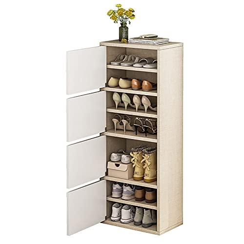 VBARV Organizador de estantes para Zapatos de pie, gabinete de Madera para Zapatos, diseño de Almacenamiento Multicapa, Almacenamiento Cerrado, Ahorro de Espacio, fácil de Instalar, para Entrada