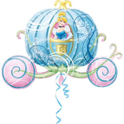 Ballonim® Cinderella Hochzeitskutsche ca. 80cm Luftballons Folienballon Party DekorationGeburtstag