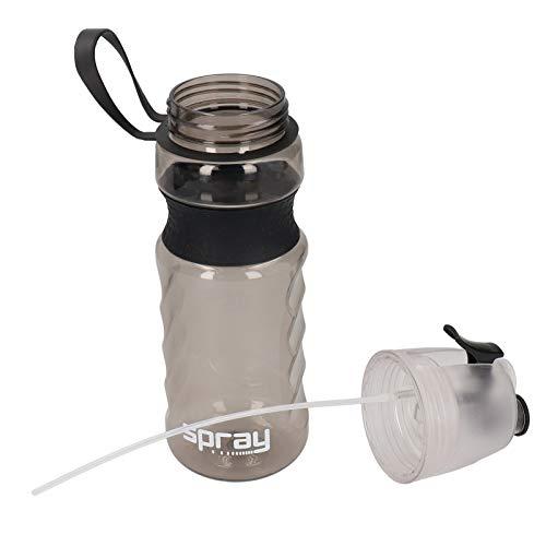 JULYKAI Isolierte Wasserflasche, tragbare 800 ml 2-in-1-sichere und langlebige Sportwasserflasche, zum Spazierengehen, Joggen, Radfahren, Schwimmen für Erwachsene und Kinder(Black)
