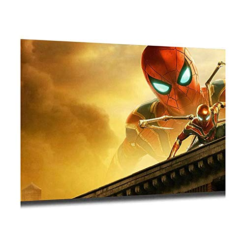 HJKHJK Wall Art Spiderman Painting Pictures Print on Canvas Picture for Home Modern Decoration Piece Ready To Hang (B,24x36)