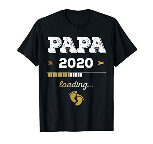 Papa loading 2020 Schwangerschaft Werdender Vater Geschenk T-Shirt