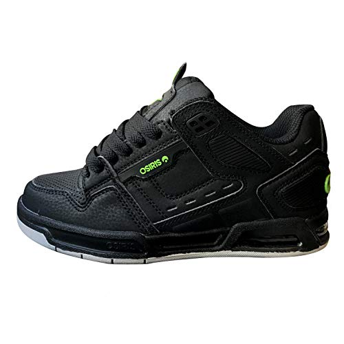 Osiris Peril Kids negro/lima/gris, Unisex adulto, Black Lime Grey, 39.5 EU