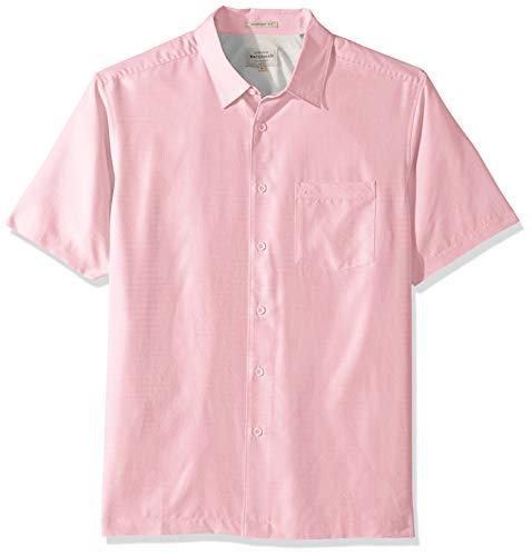 Quiksilver Waterman Men's Centinela 4 Button Down Shirt, Lilac Snow, L