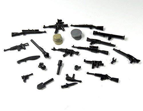 Custom Polizei SWAT Waffen Set Mütze Maschinengewehr Zubehör für LEGO® Figuren