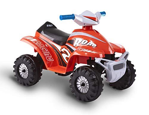 ROLLPLAY Mini Elektro-Quad, Für Kinder ab 1,5 Jahren, Bis max. 18 kg, 6-Volt-Akku, Bis zu 2 km/h, Rollplay 6V Mini Quad, Rot