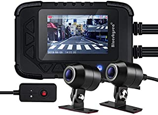 Blueskysea DV688 Motorcycle Dash Cam 1080p Dual Lens Motorcycle Recording Camera 2.35 LCD IP67 Waterproof Screen 130 Degree Angle Night Vision Latest Version