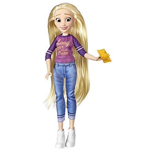 Disney Princess Comfy Squad Rapunzel, Puppe zum Film Chaos im Netz mit Freizeit-Outfit und Zubehör