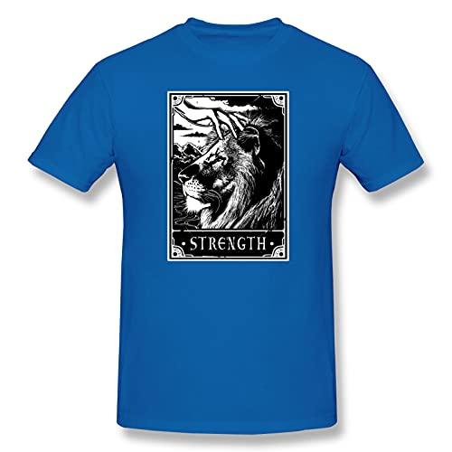 Camiseta de manga corta para hombre, diseño de león de la fuerza