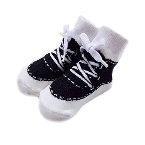 Comcrib bébés Chaussettes pour Chaussettes en Coton Booties Chaussettes avec Dentelle pour 0-12 mois Bébés