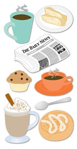 SandyLion Essentials 3D-Sticker de Luxe Teatime Kaffee und Kuchen