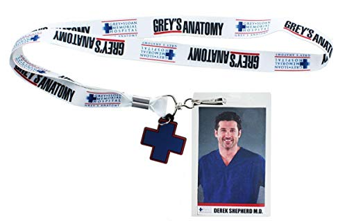 Surreal Entertainment Greys Anatomy Derek Shepherd Lanyard w/ Charm