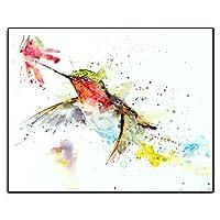 ハミングバード花水彩キャンバス絵画現代の壁アート写真ポスターとプリント寝室の家の装飾子供ギフト20x30cmフレームレス