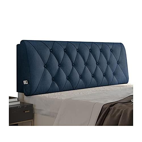 WENZHE Cabecero Cama Cojines Tapizado Cojín Lectura Almohadas, Sin Lavado Paño Técnico Respaldo Bolsa Blanda, Usado para Sala Estar Cuarto Sofá Cama, 6 Colores (Color : Blue, Size : 180x60x10cm)
