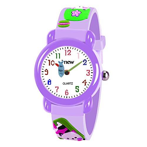 EUTOYZ Geburtstagsgeschenk für Mädchen 3-12 Jahre,Zeit Lehrer Uhr für Kleinkinder 4-12 Jährige Mädchen Geschenk(style7)