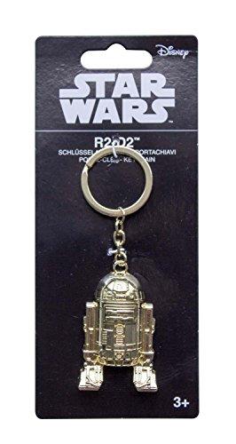 Star Wars A832105 R2-D2 - Portachiavi placcato oro, unisex