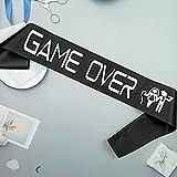 Banda Game Over Sash, futura novia, futuro novio, fiesta de compromiso, boda, pronto novio, despedida de soltera Celibato