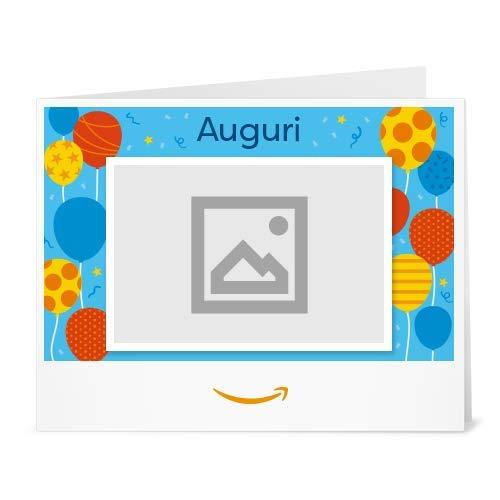 Buono Regalo Amazon.it - Stampa -Carica una foto - Compleanno (palloncini)